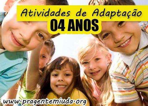 Atividades de Adaptação para 04 Anos | Pra Gente Miúda