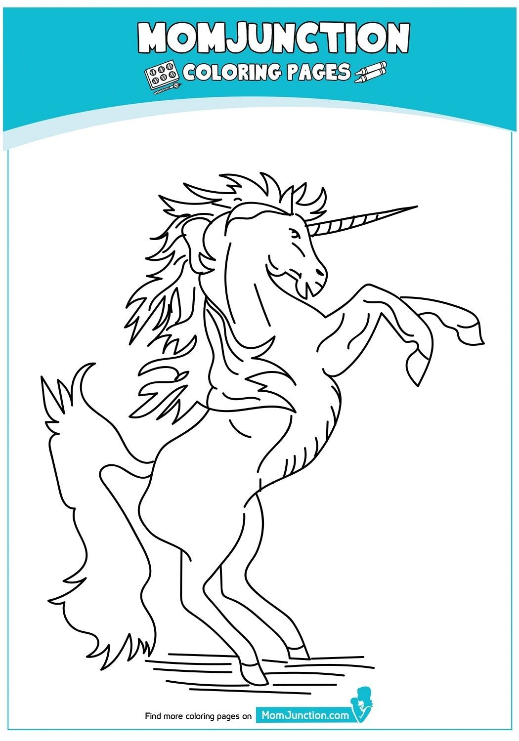 Momjunction Unicorn Coloring Pages Designs Collections