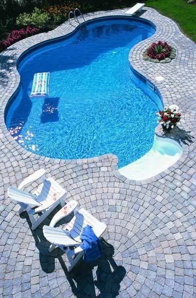 Welcome To Swimmingpoolscom Com Stone Pool Deck Stone Pool