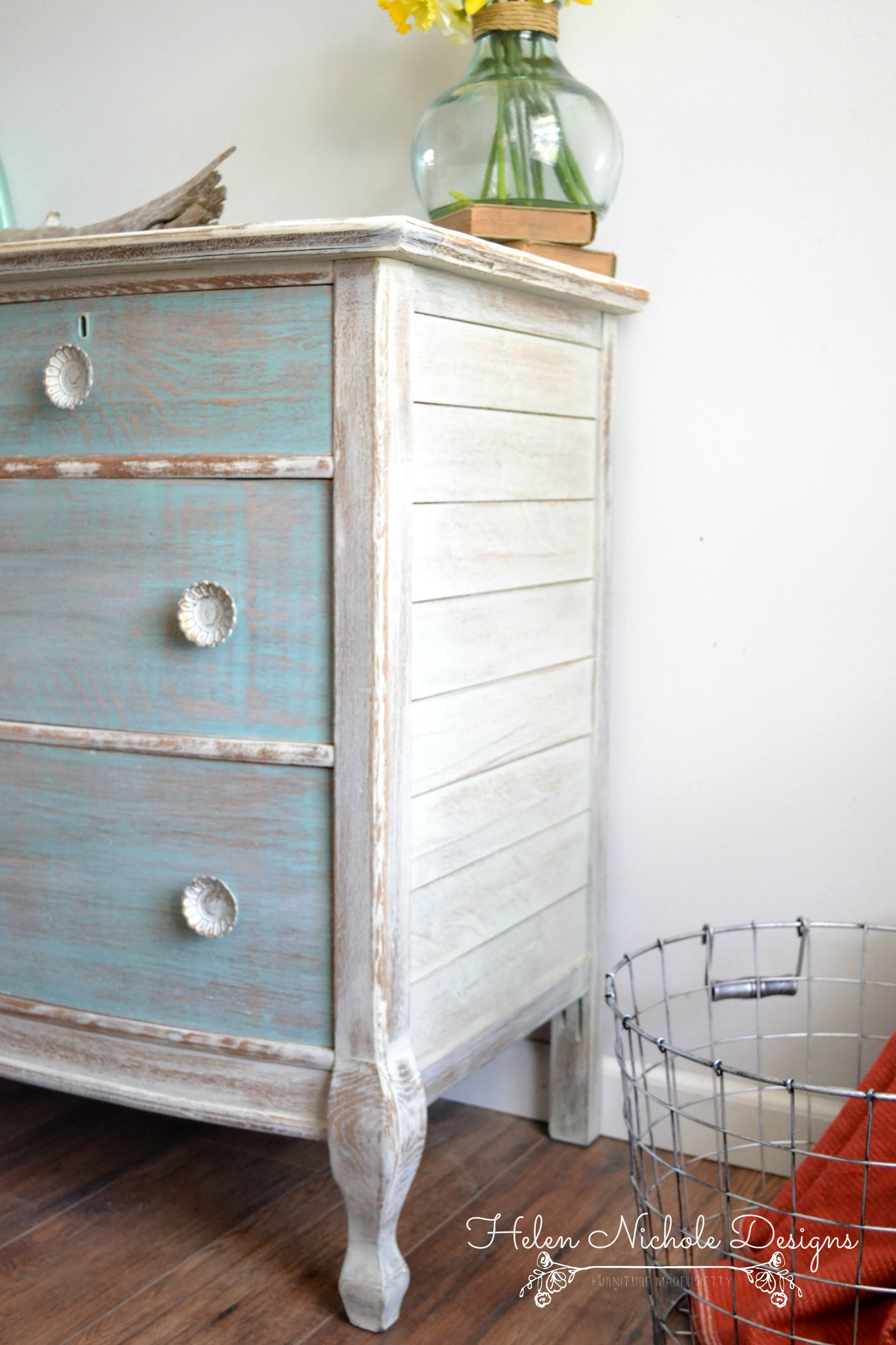 How To Create A Whitewash Finish Helen Nichole Designs Refinishing Furniture White Washed