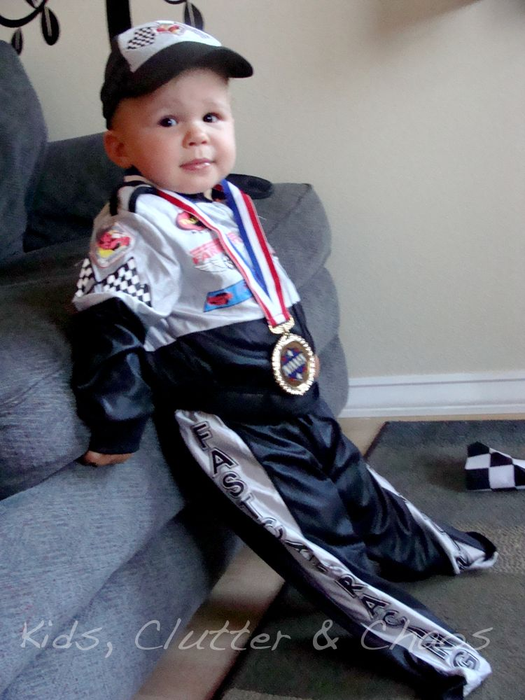 Kids Clutter And Chaos Halloween 2012 Toddler Race Car Driver