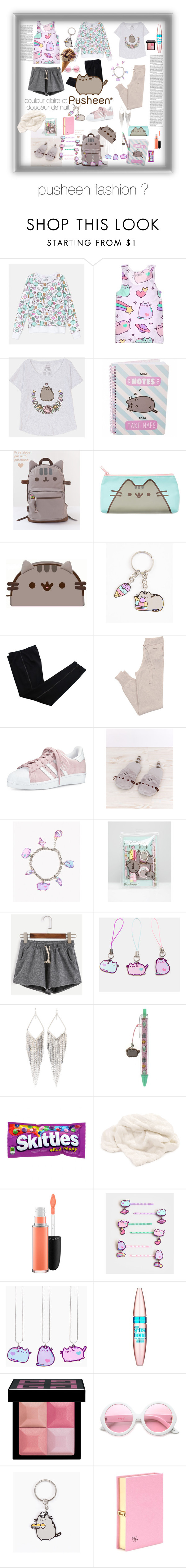 """""""pusheen fashion ♡"""" by ferialbraik ❤ liked on Polyvore featuring Pusheen…"""