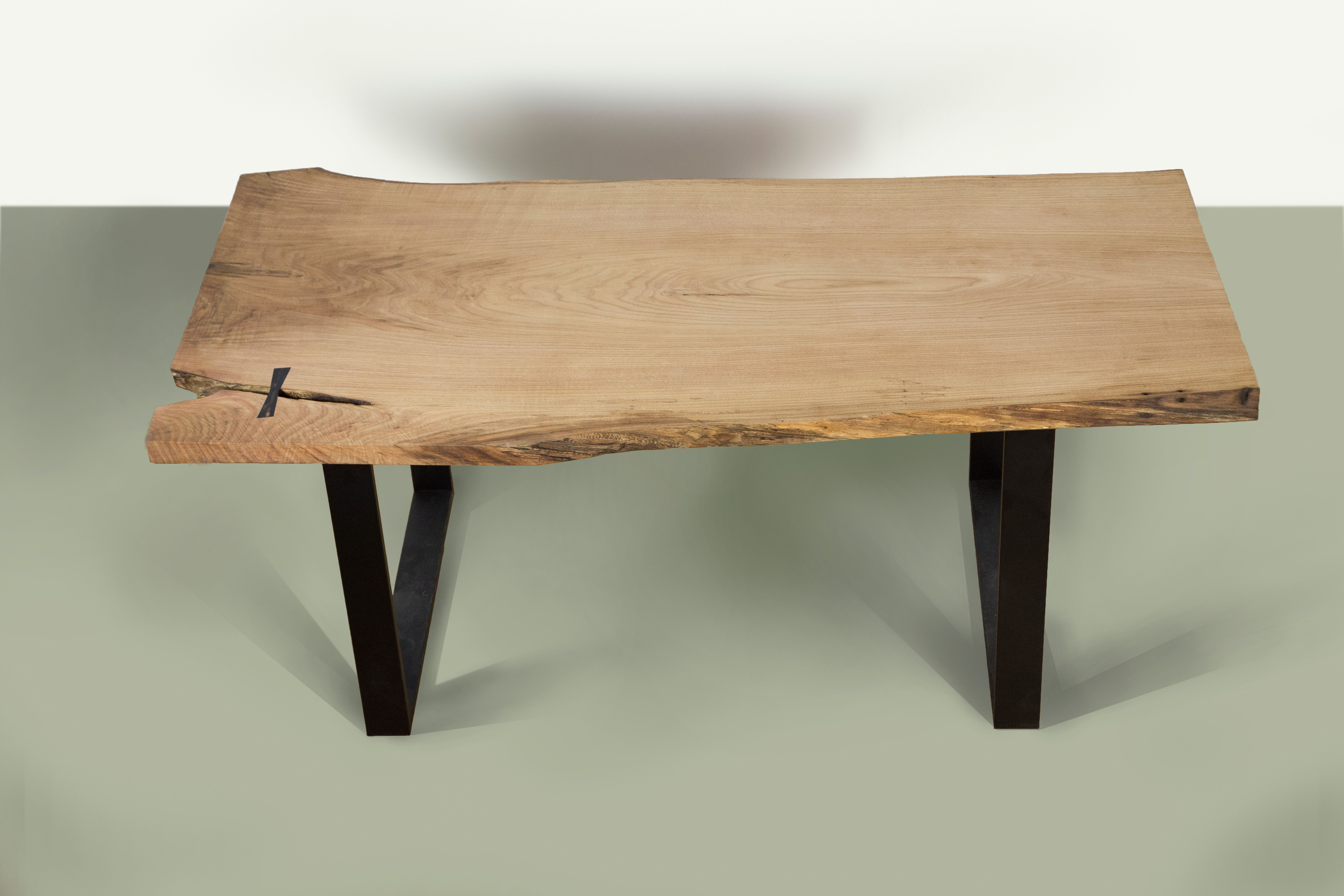 Mesa De Comedor Madera Borde Vivo Casta O Jose Chafer  # Sequoia Muebles De Autor