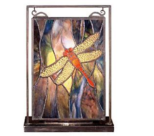 c3507052dd1f Tiffany Style Dragonfly Mini Window Panel and Display
