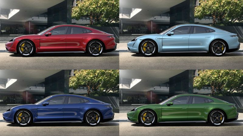 All Of The 2020 Porsche Taycan Paint And Interior Colors Revealed Porsche Taycan Porsche Colorful Interiors