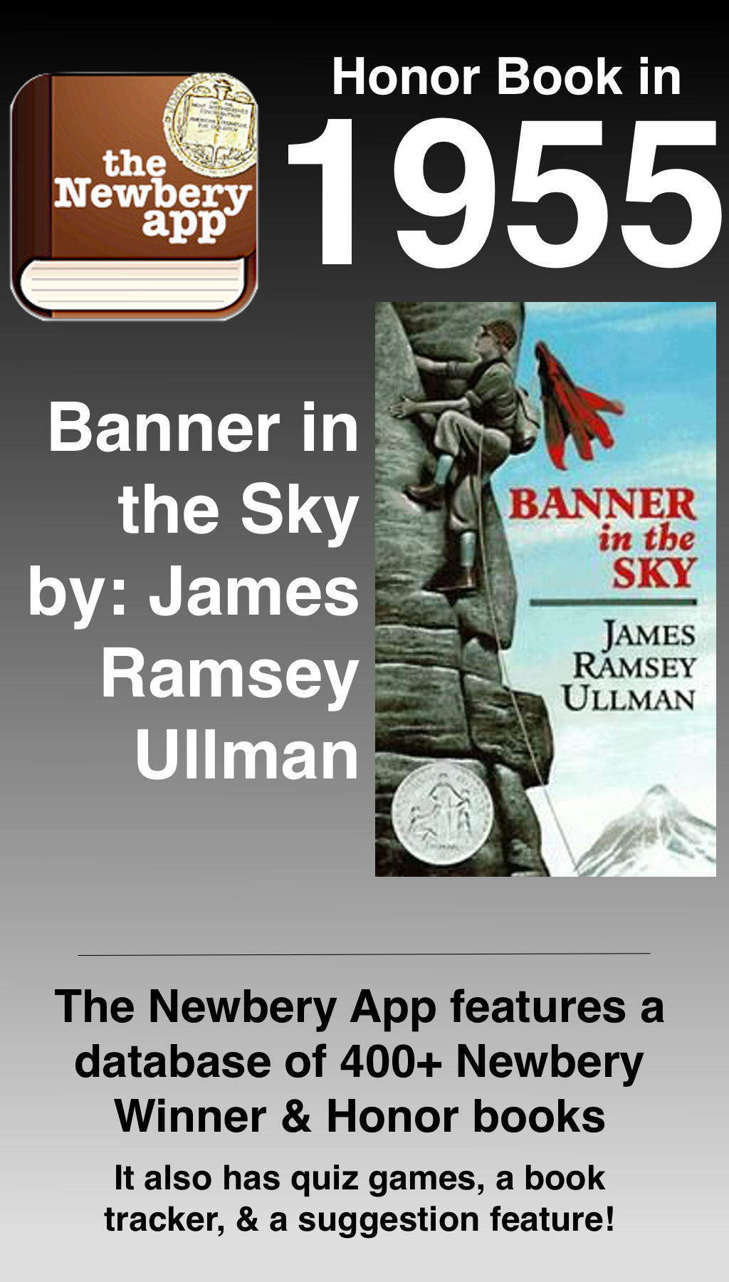 Banner In The Sky By James Ramsey Ullman Was A Newbery