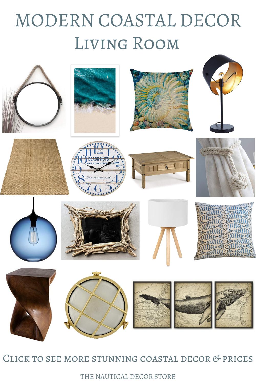 All Categories The Nautical Decor Store In 2020 Coastal Decorating Living Room Modern Coastal Decor Ocean Themed Bathroom Decor