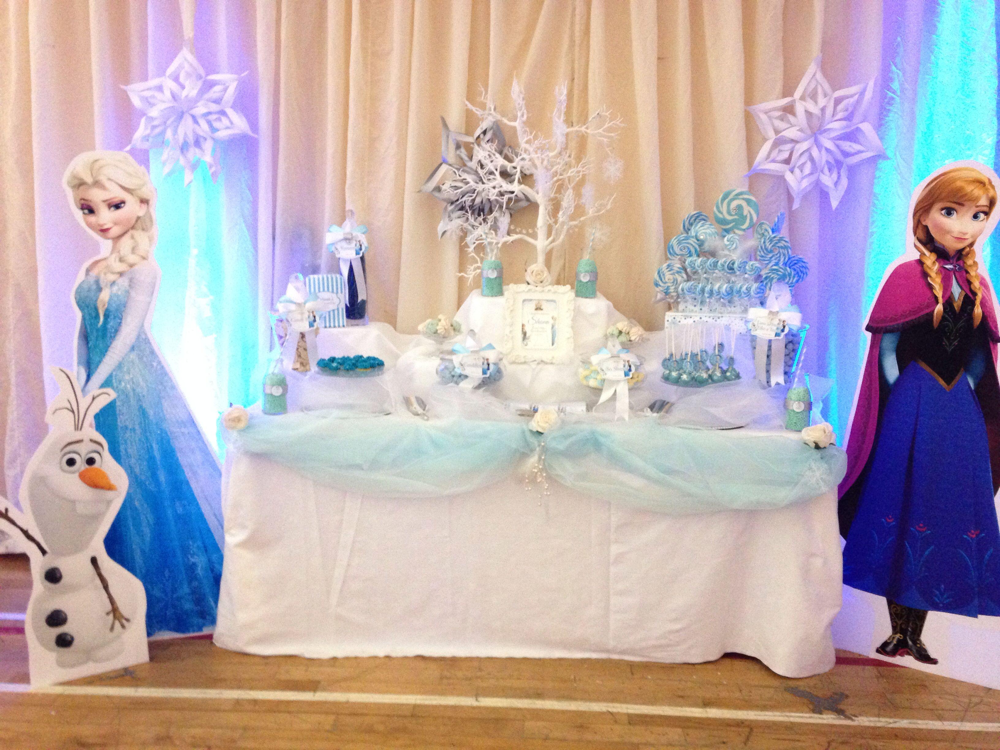 Frozen Themed Candy Buffet Frozen Party Frozen Candy Table Frozen Theme