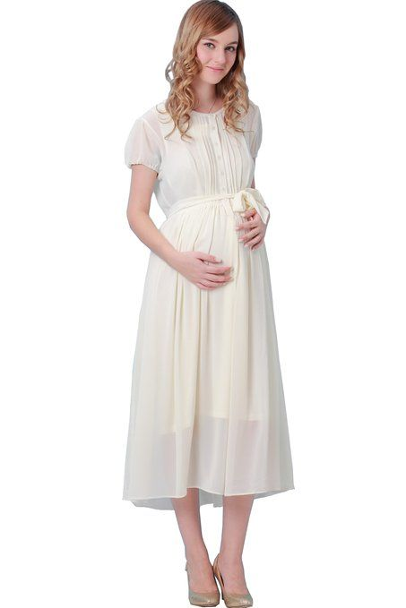 09746ce1114c Sweet Mommy Maternity and Nursing Chiffon Maxi Dress with Organic Cotton  Inner Camisole WHM