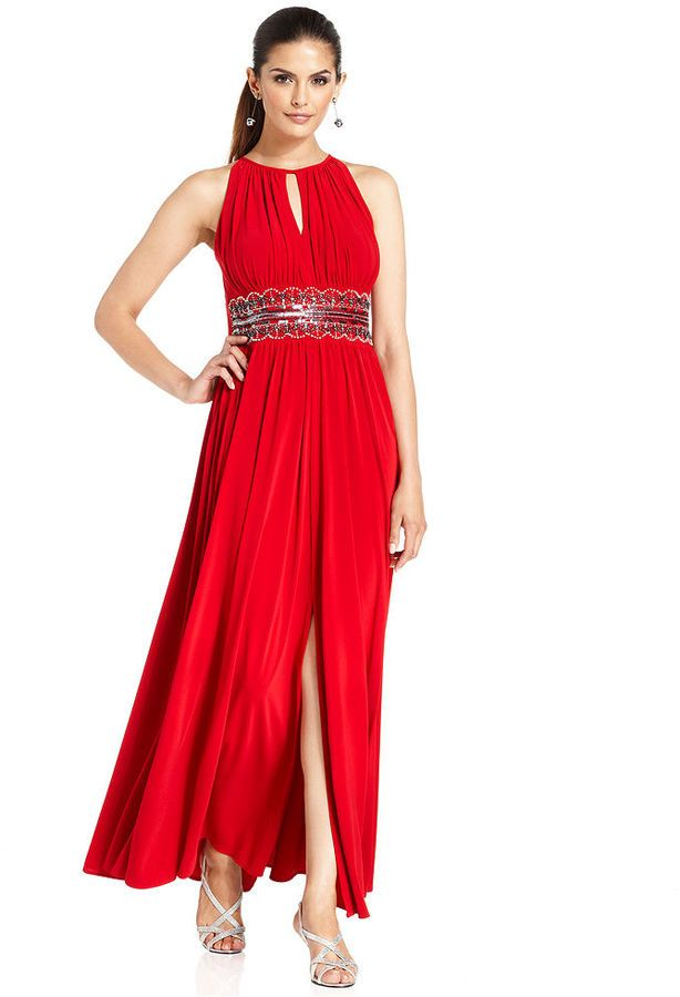 R & M Richards R&M Richards Plus Size Sleeveless Beaded Gown #plus ...