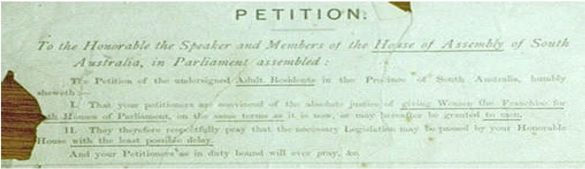 Womenu0027s Suffrage Petition 1894 https\/\/wwwparliamentsagovau - how to write petition guide