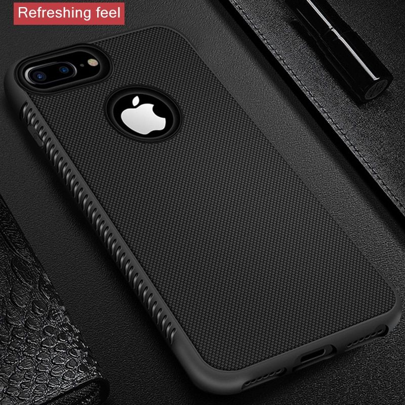 fb565c9eb GerTong Rugged Case For iPhone X XR XS Max Cover Silicon Bumper Matte Cases  For iPhone 6S 6 7 8 Plus 7Plus Shockproof Back Cover(China)