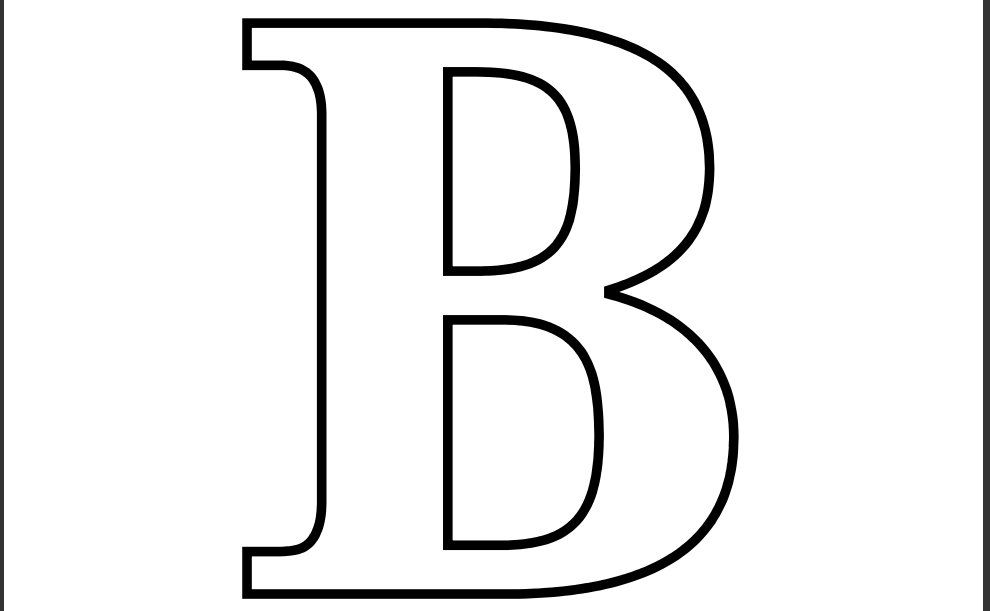 B&q Chair Rail Part - 16: Printable Letter B Coloring Page
