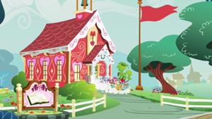ponyville schoolhouse equestria landscapes pinterest mlp