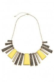Multi Charm Necklace    $21.90  romwe.com #Romwe