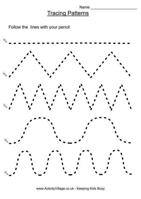 Tracing patterns | Peds (OT) | Preschool worksheets, Preschool ...