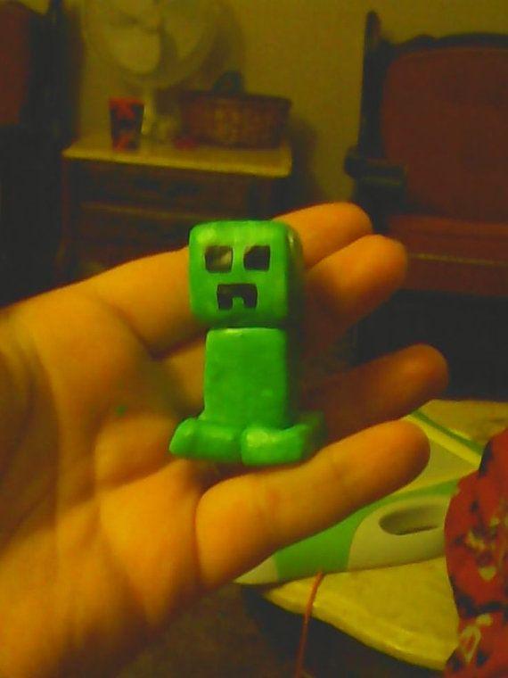 Mine Craft Creeper Figurine by IHeartValentinesDay on Etsy