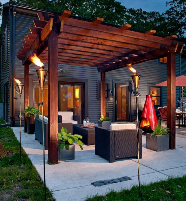 Modern Pergola Design Ideas, Pictures, Remodel, and Decor - page 18