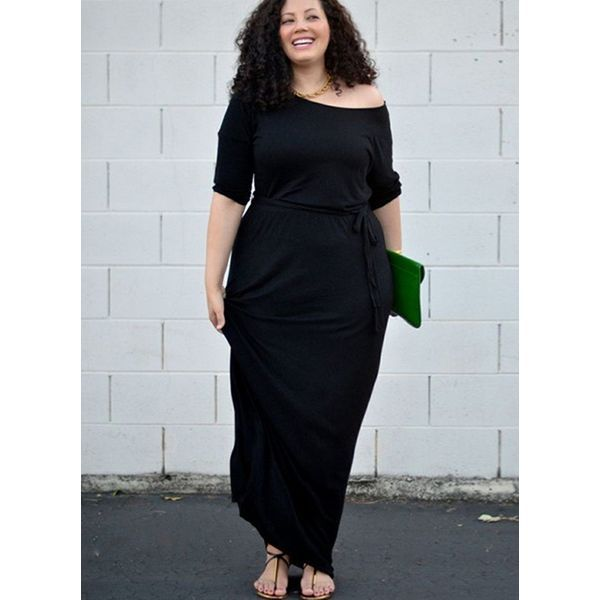 Photo of FloryDay / Plus Size Abito manica lunga maniche lunghe a 3/4 manica lunga (1955395752)
