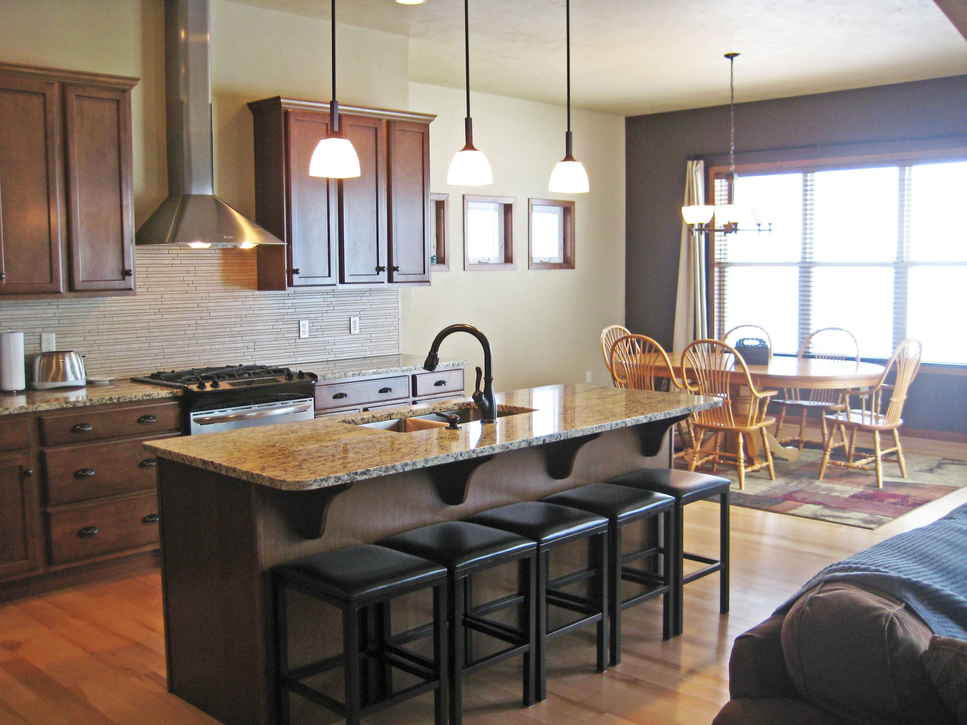 Spacious Kitchen with island seating