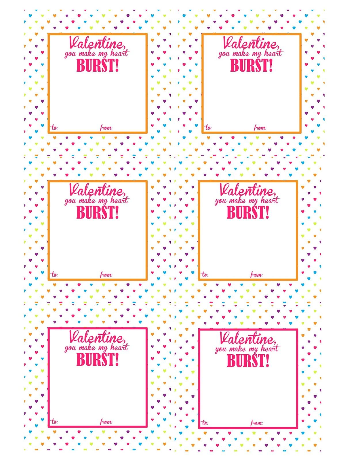 graphic about Starburst Valentine Printable identified as Starburst Valentine Guidelines Free of charge Printable Valentine