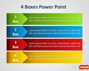 Four Box Powerpoint Template For Lineal Process Powerpoint Template Free Powerpoint Create Powerpoint Template
