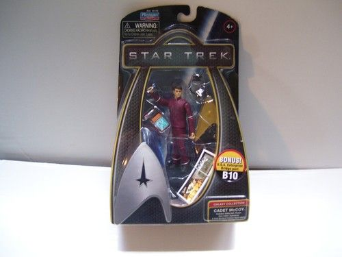 New in Package  2009 Playmates Toys   Galaxy Collection  Star Trek  Captain Kirk      Action figure 3 inches tall.  Number B9.      I accept PayPal only for all items.