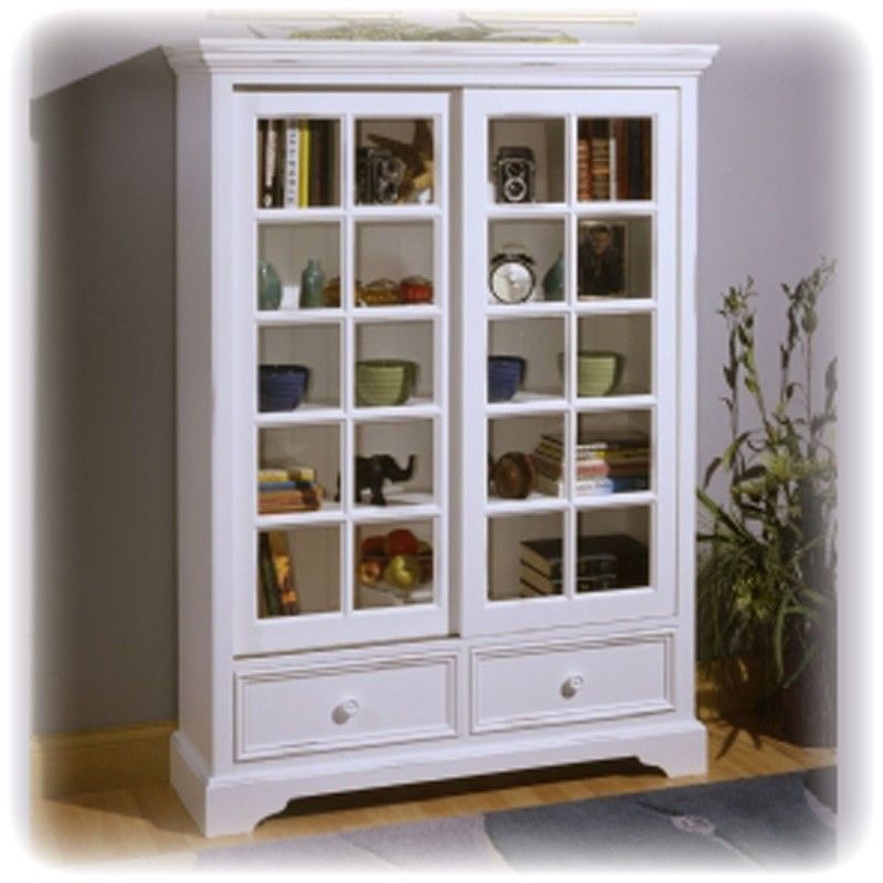 Bookcases With Doors And Drawers Louvre Sliding Door Bookcase With