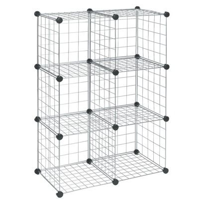 ClosetMaid Wire 6 Cube Organizer Silver | office | Pinterest ...