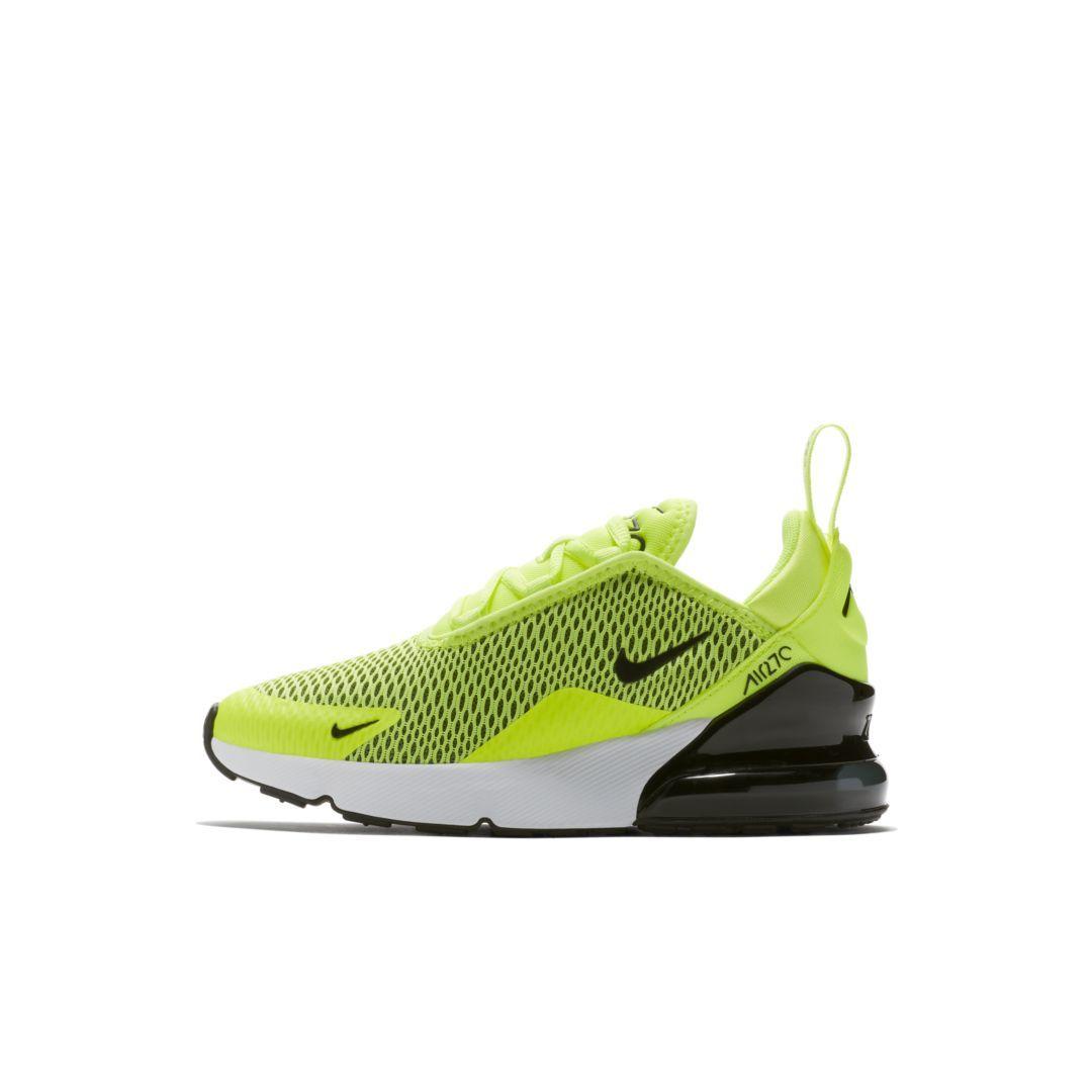promo code bf47d 5561b Nike Air Max 270 Little Kids  Shoe Size 10.5C (Volt)
