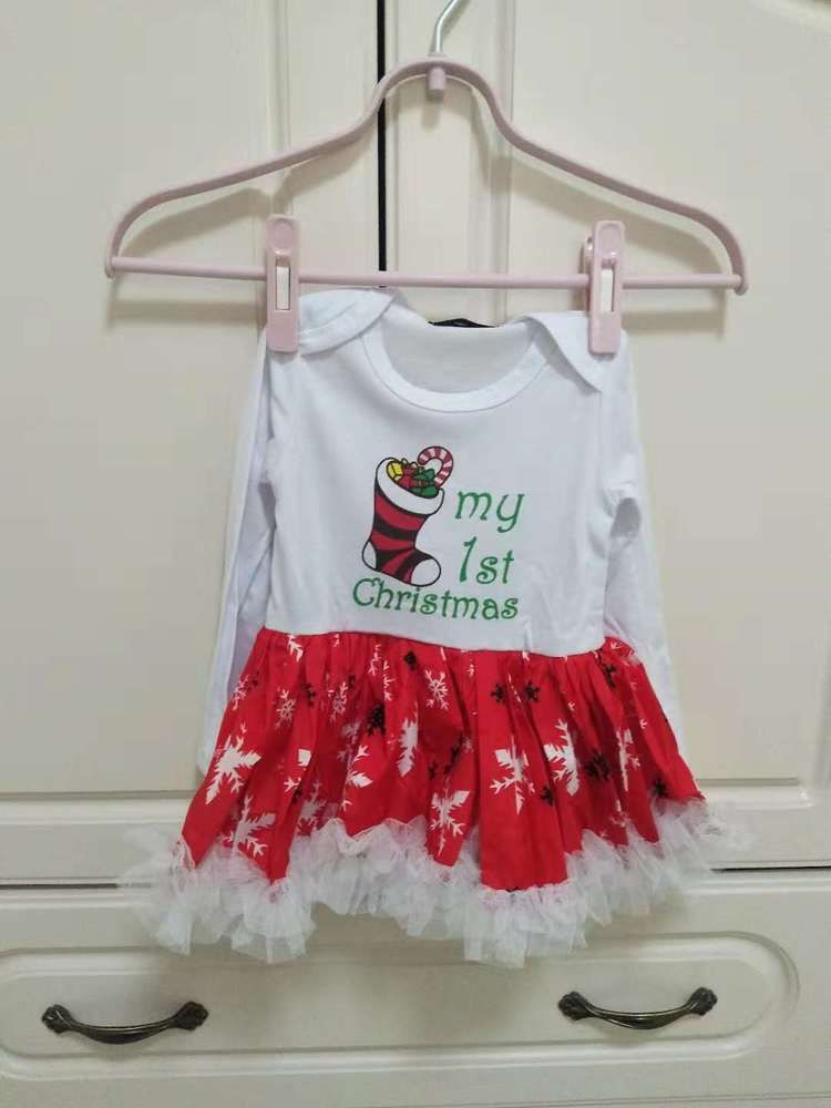 982ca9d6d764 Christmas Dresses Baby Girl Toddler Skirt long Sleeve Xmas dresses ...