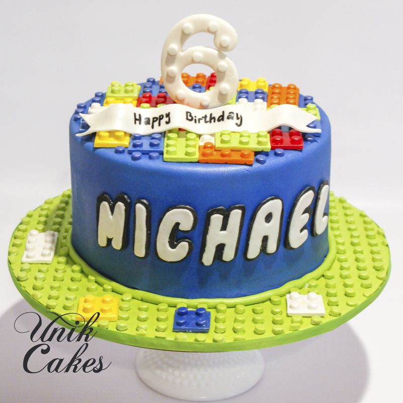 Lego Birthday Cake For A 6 Year Old Boy