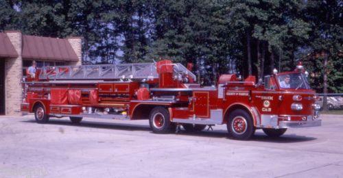 ◆FRANCONIA-VA-1969-AMERICAN-LaFRANCE-100-TILLER◆