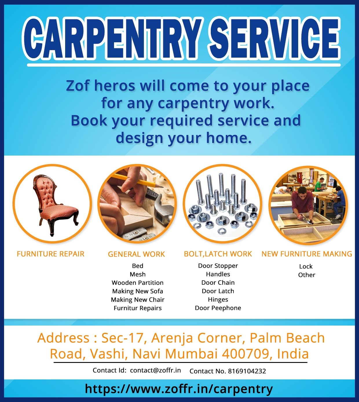 Our Services In Mumbai:  Sofa Repair Thane | Dining Table Manufacturers In  Mumbai |