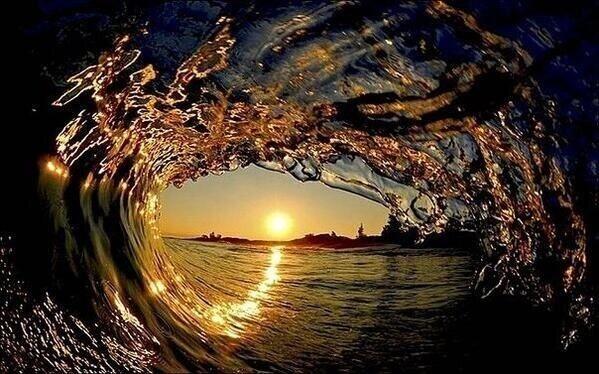 Dentro de una ola