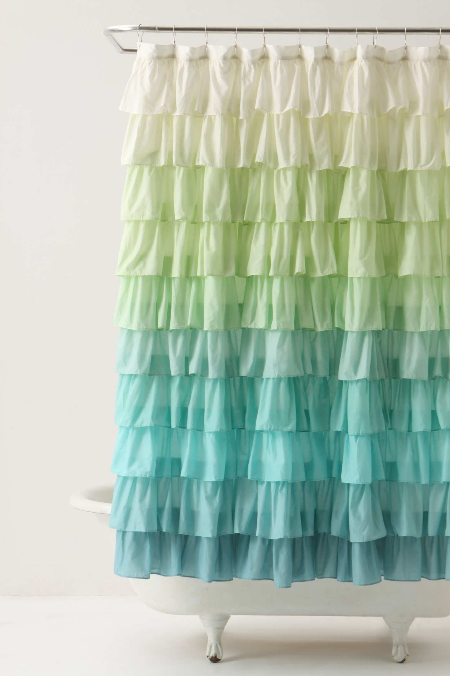Ombre ruffle curtain - Avery Kleid Mit Stickerei Schwarz Ruffled Shower Curtainseclectic