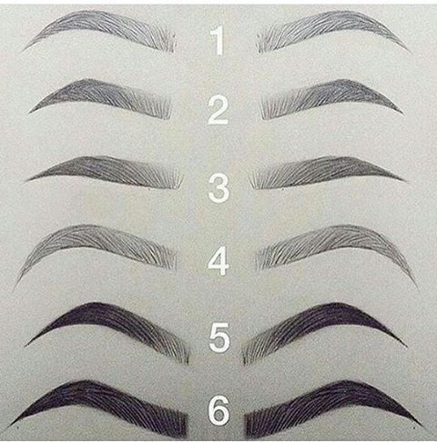 Permanent makeup eyebrow styles Cejas Pinterest Maquillaje