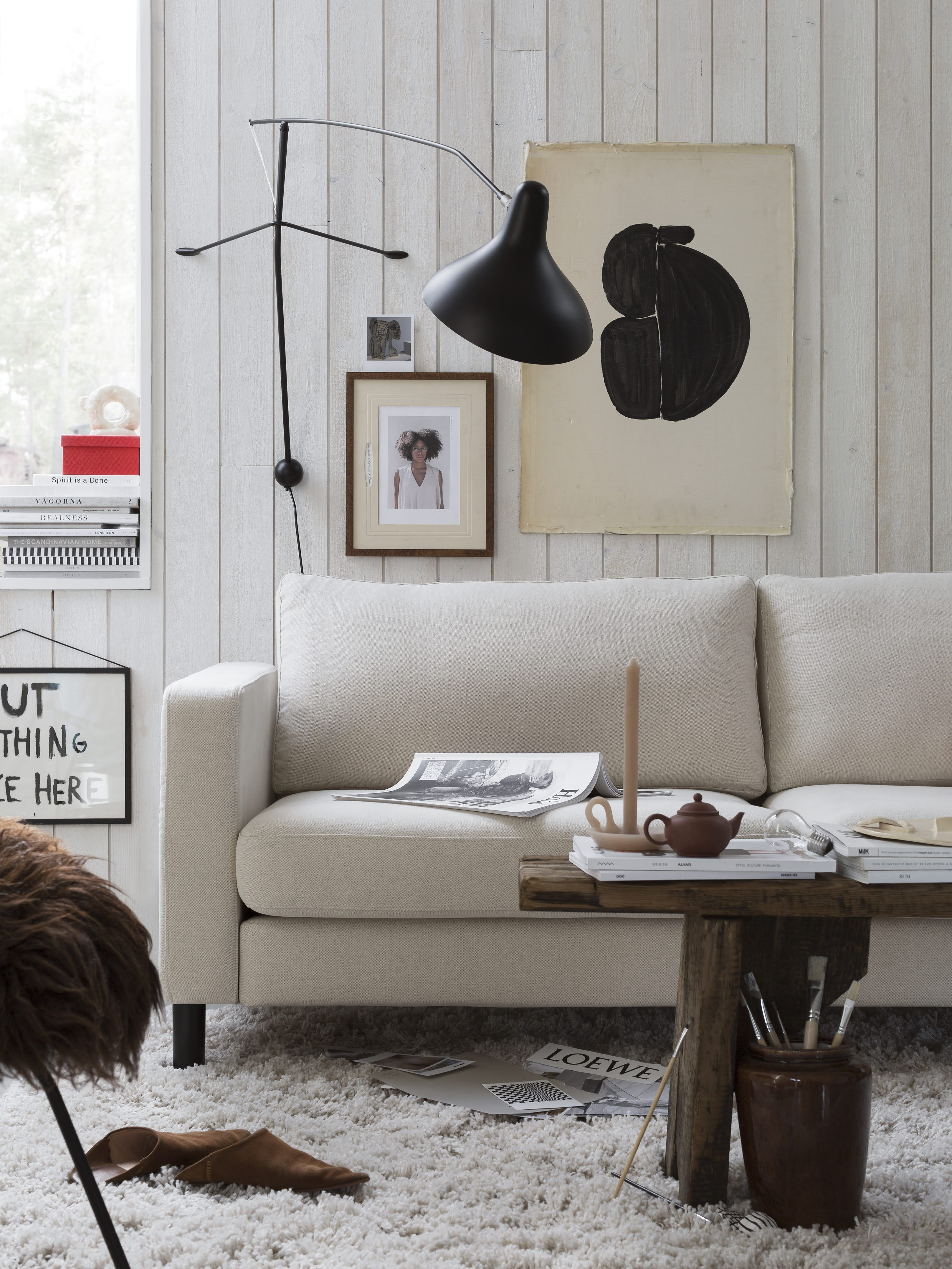 Ikea Karlstad Bemz Cotton Cover In 2020 Affordable Sofa Cosy Living Room Modern Wall Lamp Design