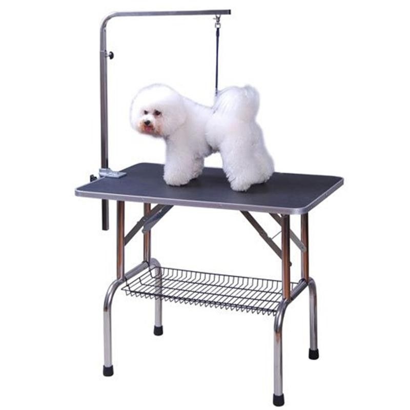 Foldable Pet Dog Grooming Table Adjustable Arm Non