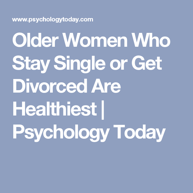 Staying single after divorce