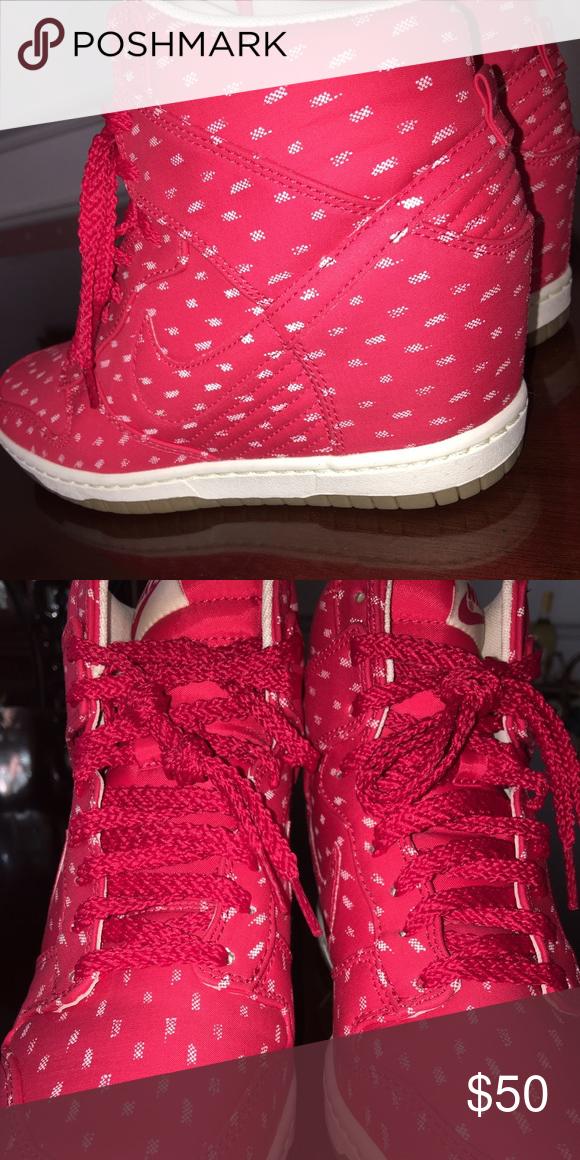 Nike Wedge Sneakers Pink Nike wedges Shoes Sneakers