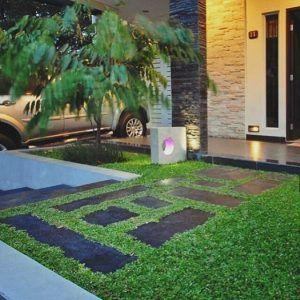 desain taman minimalis depan rumah keren abis   kebun