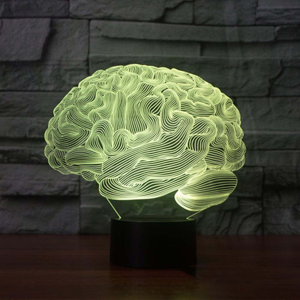 Brain Shape 3d Illusion Lamp 7 Color Change Touch Switch Led Night Light Acrylic Desk Lamp Atmosphere Lamp Novelty 3d Illusion Lamp Brain Shape Led Night Light