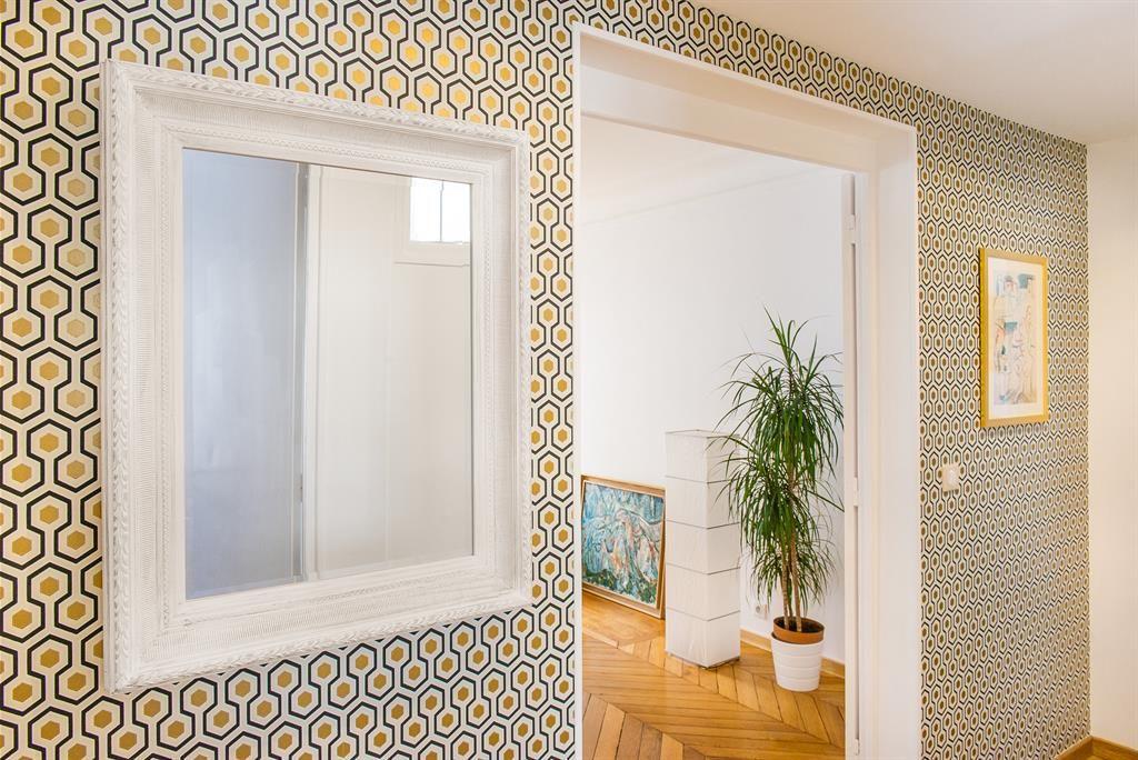Wallpaper in the living area papier peint de lu0027entrée Living