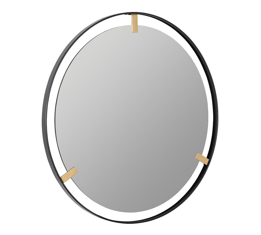 Aspen Black And Gold Round Wall Mirror 36 In 2021 Mirror Gold Mirror Wall Bronze Mirror 36 inch round mirror