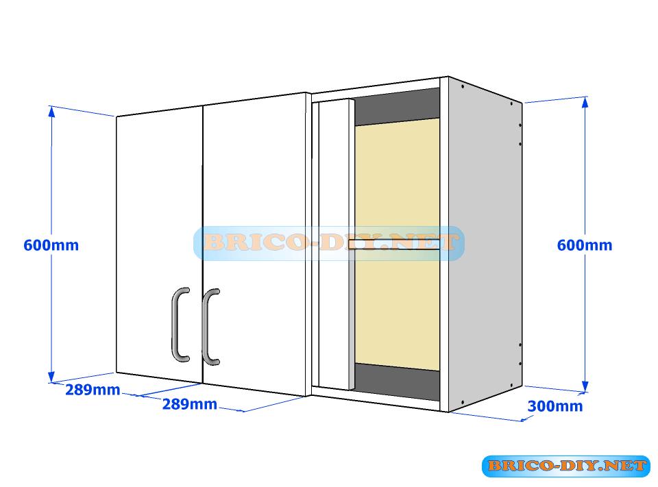 Muebles de cocina plano de alacena de melamina esquinera for Software de diseno de muebles de melamina