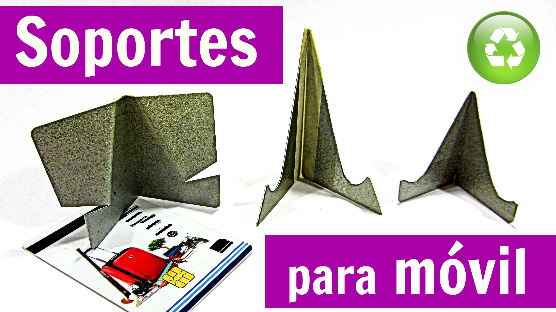 DIY: Soportes para móviles celular casero. Mobile phone holder ...