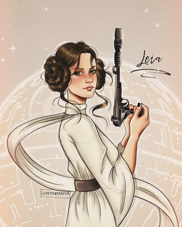 Fanart Star Wars Leia Star Wars Star Wars Fan Art Star Wars