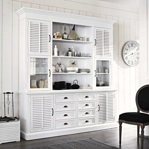 Vaisselier en bois blanc Cottage Club - Vaisselier Maisons du Monde ...