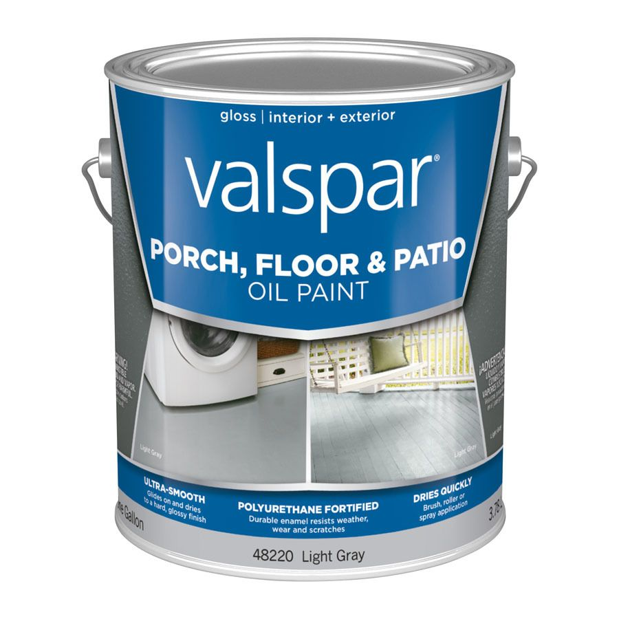 Valspar Light Gray Gloss Interior